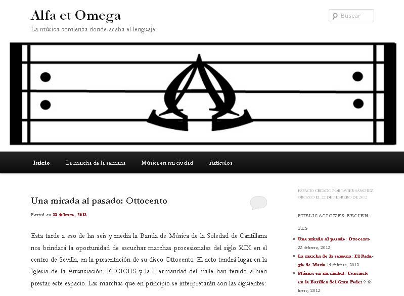 Alfa et Omega ejemplo