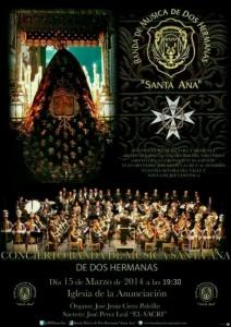 Cartel Concierto Santa Ana en la Anunciación